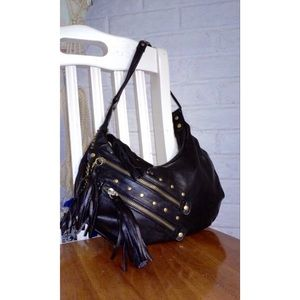 Handbags - Studded Tassel Faux Leather Handbag NWOT